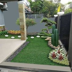 Gardens Discover Love This Taman Teras Corner Landscaping Small Backyard Landscaping Tropical Landscaping Small Balcony Garden Small Garden Design Minimalist Garden Minimalist House Design House Plants Decor Plant Decor Small Courtyard Gardens, Small Backyard Gardens, Backyard Patio Designs, Garden Yard Ideas, Small Backyard Landscaping, Landscaping Design, Corner Landscaping, Flower Garden Plans, Small Courtyards