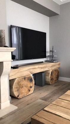 Vintage Home Decor, Rustic Decor, Diy Home Decor, Room Decor, Log Furniture, Furniture Design, Interior Decorating, Interior Design, Home Projects
