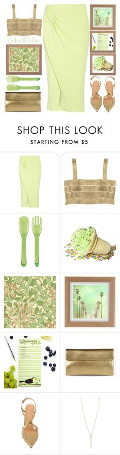 """""""Mint Ice Cream"""" by grozdana-v ❤ liked on Polyvore featuring Baja East, Aziina, OXO, William Morris, Urban Outfitters, Maison Margiela and Sergio Rossi"""
