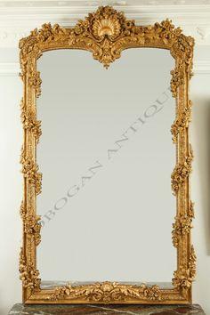 Talha escultura Júlio Leal Golden Mirror, French Mirror, Mirror Mirror, Floor Mirrors, Small Mirrors, Antique Mirrors, Art Nouveau, Classic Furniture, Antique Furniture