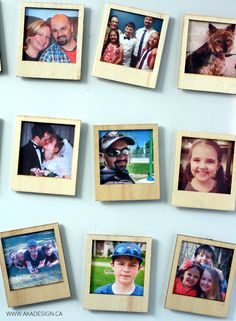 DIY wood Polaroid photo magnets how-to