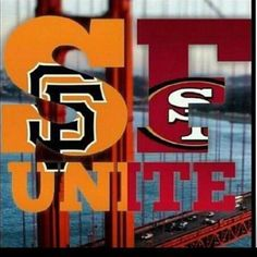 San Francisco Giants and the San Francisco Sf Niners, Forty Niners, San Francisco Baseball, San Francisco Giants, 49ers Pictures, Vegas, Sports Team Logos, Sports Teams, 49ers Fans