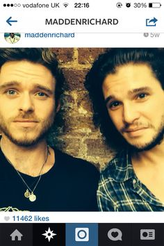Robb Stark, Jon Snow.  The most beautiful photo on the planet