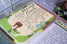 cute ideas for altering premade kit journal cards. niebuhrchicks: Project Life Week 15