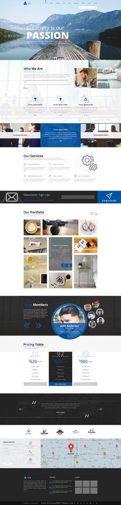 Alicia is a modern multipurpose PSD template with 3 different homepage layouts. #psdtemplate Download Now!
