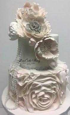 different wedding cakes Initials Extravagant Wedding Cakes, Elegant Wedding Cakes, Cool Wedding Cakes, Elegant Cakes, Gorgeous Cakes, Pretty Cakes, Amazing Cakes, Fab Cakes, Cute Cakes