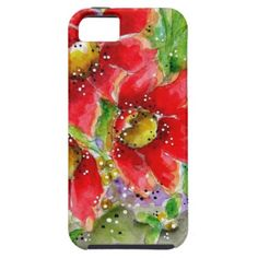 Red Sunflowers iPhone 5 Case