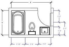 Small bathroom floor plans design ideas body inspiration for Bathroom design 7x7