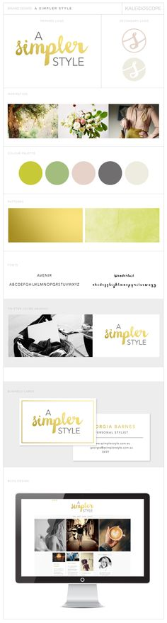 A Simpler Style, Logo, Branding, Social Media Cover, Business Card and Blog Design by Amanda Fuller   Kaleidoscope