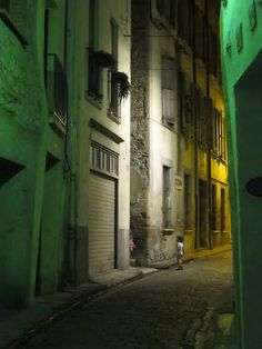 Hot summers night in Ceret, France