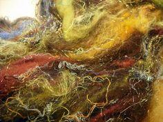 Fiber Wool Art Batt Lockalicious Betty Batt nO by BricolageStudios