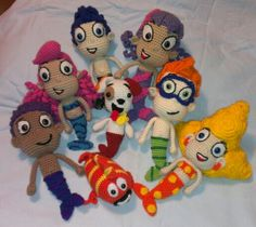 ella loves this show so much right now ! Crochet Amigurumi Undersea Siblings aka Bubble Guppies