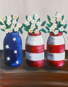 Join us at Pinot& Palette - Wall Township Studio on Thu Jun 2017 for Freedom Flowers. Seats are limited, reserve yours today! Cute Canvas Paintings, Flower Painting Canvas, Mini Canvas Art, Easy Paintings, Diy Painting, Painting On Wood, Wine And Paint Night, American Flag Painting, Palette Wall