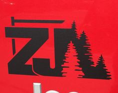 Jeep Cherokee ZJ with Trees Decal