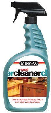 """Minwax 52127 Wood Cleaner 32 Oz Trigger Spray (Pack of 4) by Minwax. $19.96. Not for use on waxed, oiled, shellacked or unfinished wood .. Can also be used on laminate surfaces.. Cleaner specifically designed to remove dirt and grease from floors, furniture, doors, cabinets, paneling and other wood surfaces without leaving any residue.. """"MINWAX"""" WOOD CLEANER SPRAY. 32 oz. trigger spray.. """"MINWAX"""" WOOD CLEANER SPRAY *32 oz. trigger spray *Cleaner specifically d..."""