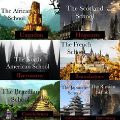 There's a lot more Which one would you go to? The North American one. J.K.!! Hogwarts!!!!!!!!  ⚡️ • ⚡️ • ⚡️