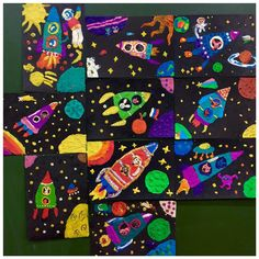 Ольга Смаковская - Мастерская юного художника | OK.RU Space Crafts For Kids, Art For Kids, Kid Friendly Art, Steam Art, 5th Grade Art, Art Lesson Plans, Art Classroom, Elementary Art, Teaching Art