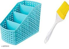 Food Strainers Holder with 1 Silicone Brush Material: Plastic  Dimension (L X B X H): 17 cm x 10  cm x 5 cm Compartment : 4  Description: It Has 1 Piece Of Holder with 1 Silicone Brush Sizes Available: Free Size *Proof of Safe Delivery! Click to know on Safety Standards of Delivery Partners- https://ltl.sh/y_nZrAV3  Catalog Rating: ★3.8 (500)  Catalog Name: Free Gift Dream Home Unique Kitchen Storages Vol 5 CatalogID_314370 C135-SC1649 Code: 962-2353910-