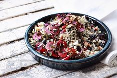 cauliflower, kale and apple tabbouleh with blueberries, cherries and ...