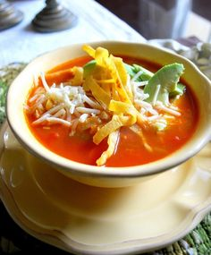 chicken tortilla soup - Yum! Some great recipes on this page :)