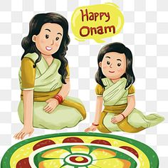 Cute Clipart, Clipart Images, Girl Clipart, Happy Birthday Kids, Happy Kids, Drawing For Kids, Art For Kids, Onam Wishes, Onam Festival