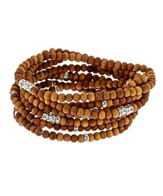 Lola James Sandalwood Beaded Bracelet Set