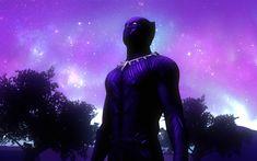 Download wallpapers 4k, Black Panther, night, superheroes, 2018 movie, poster