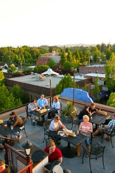 Visit McMenamins Hotel Oregon located in the heart of wine country.  Take in the 360 degree view from the legendary Rooftop Bar.   www.mcmenamins.com photo courtesy McMenamins Hotel Oregon