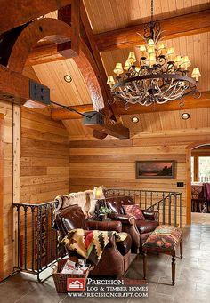 Log Home Loft | by PrecisionCraft Log Homes by PrecisionCraft Log Homes & Timber Frame, via Flickr