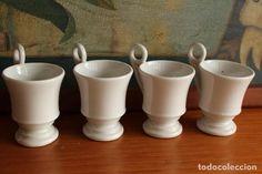 juego taza café o chocolate siglo xix cerámica - Comprar Otras porcelanas y cerámicas antiguas en todocoleccion - 102144775 Cafe O, Chocolate, Mugs, Antiques, Tableware, Enamels, Cartagena, White Porcelain, Antique Pottery