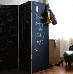 Chalkboard Room Divider Double the fun A chalkboard&; Chalkboard Room Divider Double the fun A chalkboard&; definition of renovation by The Free Dictionary Room Divider […] Room Divider diy Fabric Room Dividers, Wooden Room Dividers, Hanging Room Dividers, Sliding Room Dividers, Wall Dividers, Metal Room Divider, Bamboo Room Divider, Diy Room Divider, Room Divider Screen