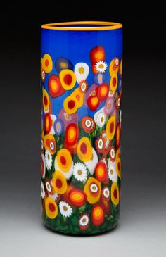 Wildflower Cylinder Vase, Mad Art