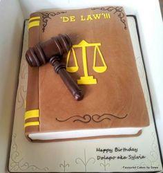 let 'em eat cake Retirement Party Cakes, 40th Birthday Cakes, Happy Birthday Mate, Cupcakes, Cupcake Cakes, Lawyer Cake, Graduation Desserts, Graduation Cake, Gift Box Cakes