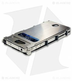 CRKT iNoxCase Stainless Steel iPhone 4/4S Case (Silver) INOX4S