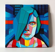New Plywood Mosaics by Aske wood painting mosaics graffiti colors.  http://www.thisiscolossal.com/tags/mosaics/page/2/