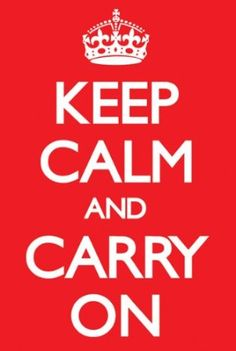 Amazon.com - Keep Calm & Carry On Red Poster Art Print -