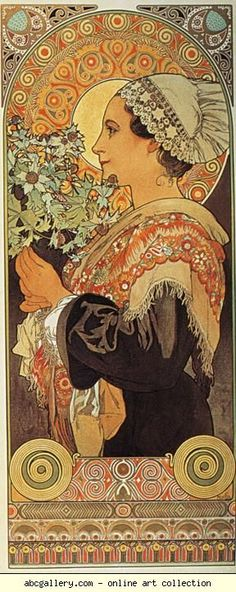 Alphonse Mucha - Thistle from the Sands
