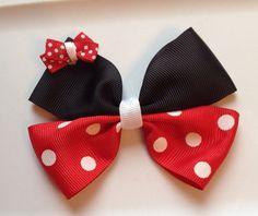 Minnie Mouse Hair Bow on Etsy