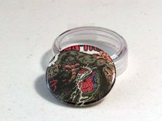 "Comic Book 1.5"" Button// Man-Thing vs Spider-Man, $1.00"