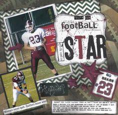 Football star - Scrapbook.com