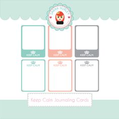Free Keep Calm Journaling Cards from Sarah Hurley {store checkout required}