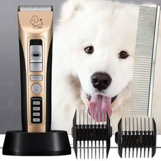 Professional Heavy Duty Pet Grooming Clippers, Pet Grooming Kit for Thick Hair Dogs, Cats and Horses ** Find out more about the great product at the image link. (This is an affiliate link and I receive a commission for the sales)
