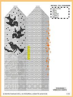 "Вязание. Жаккард - ""Зимняя радуга"" | VK Crochet Mittens Free Pattern, Fair Isle Knitting Patterns, Knit Mittens, Knitting Charts, Knitted Gloves, Knitting Stitches, Baby Knitting, Graph Design, Tapestry Crochet"