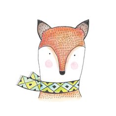 Foxy Art Print Watercolour Illustration