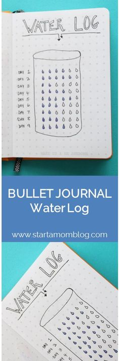 Bullet Journal Ideas Water Log Tracker
