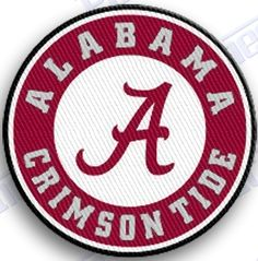 FREE SHIPPING IN THE USA ALABAMA CRIMSON TIDE iron on embroidery patch - 2.0 X 2.0 iNCHES 100% EMBROIDERED PATCHES UNIVERSITY COLLEGE STATE OF SPORTS SEC FOOTBALL BASKETBALL ALABAMA