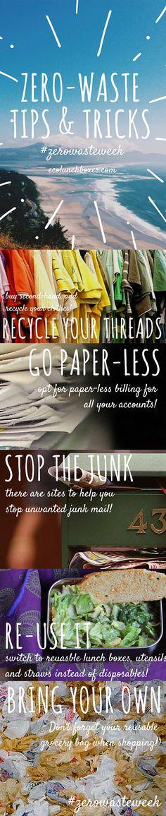 #Zerowasteweek Tips and Tricks from ECOlunchbox