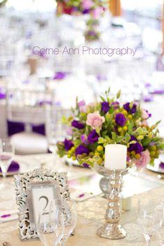 wedding decor purple http://corneannphotography.wix.com/corneannphotography