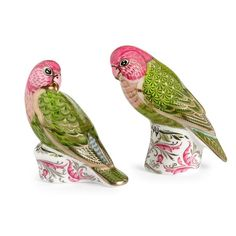 Royal Crown Derby Majestic Love Birds ($375) ❤ liked on Polyvore featuring home, home decor, royal crown derby figurines, handmade home decor, love bird figurines, royal crown derby and bone china