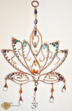 Super Sparkly Lotus Blossom gemstone suncatcher Chakra window